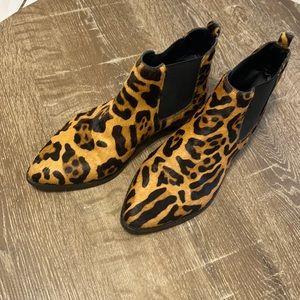 ASOS Leopard Print Ankle Boots Size 6